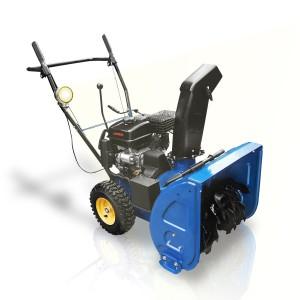 Die Holzinger Benzin Schneefräse HSF-65 aus dem Schneefräsen Test, ein Alleskönner in Blau