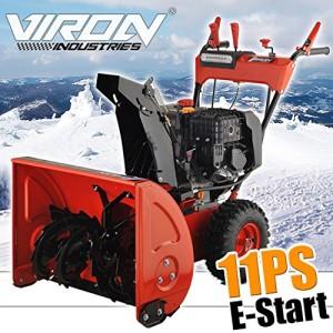 Schneefräsen Test - Die Benzin Schneefräse von Viron mit LED-Scheinwerfer